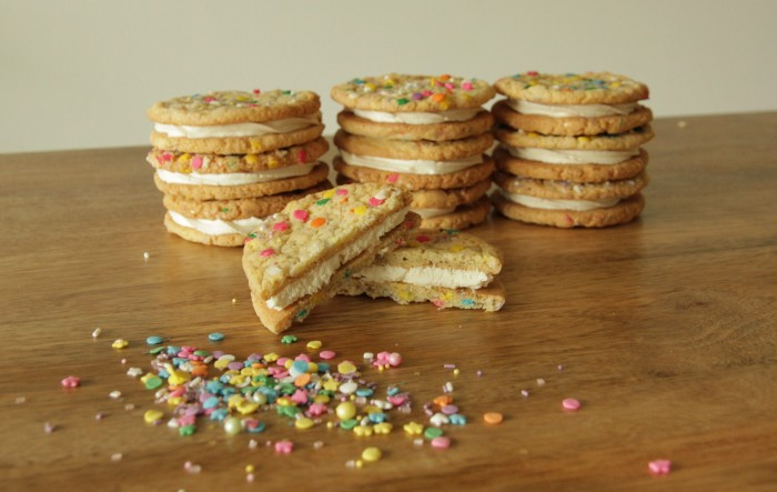 Sprinkle Cookie Sandwiches
