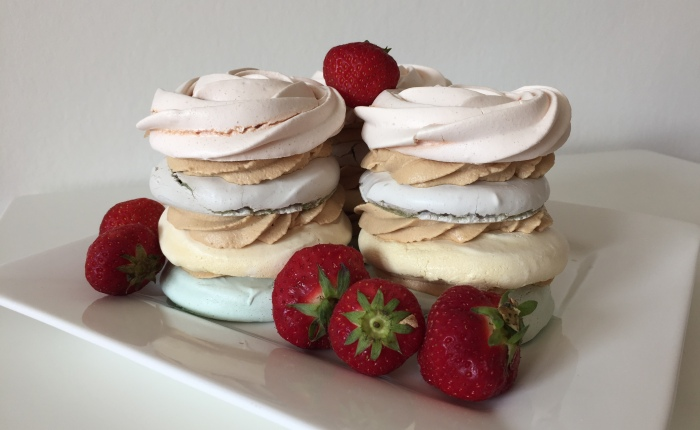 Coffee Meringue Dessert Stack
